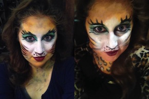 Absolutely Halloween (Santa Monica Playhouse) - evolution of the makeup